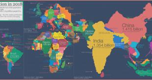خريطة العالم السكانية