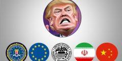 خريطة سلسلة صراعات ترامب الاقتصادية  خلال ثلاثة سنوات من شغل منصب الرئاسة